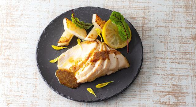 「播州百日どり」むね肉のレモンコンフィー メイプルマスタードソースサムネイル